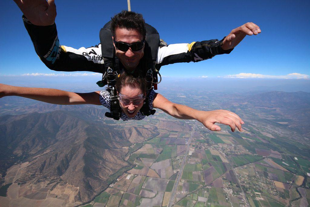 skydiven in het buitenland
