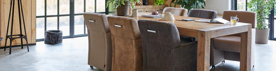 verschillende stofsamenstellingen meubels