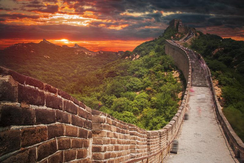 chinese muur vanuit de ruimte
